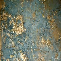 Textured Canvas Art, Diy Canvas Art, Creative Wall Painting, Diy Painting, Wall Stencil Patterns, Gold Leaf Art, Modern Art Paintings, Paint Effects, Painted Leaves