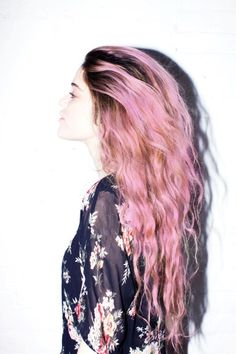 ombre dyed pink pastel hair cabelo rosa colorido