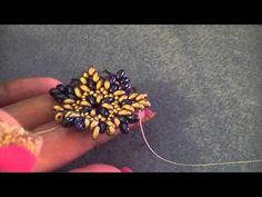 Bead Tutorial: Earring Polaris, made with twin beads and seed beads - YouTube