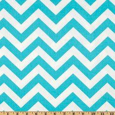 CHRISTMAS SALE - Chevron Table Runner  - Premier Prints ZigZag Twill Aqua Blue - Chevron Print. $18.00, via Etsy.