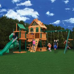 2dc542d89e1f0 Gorilla Playsets Woodbridge Cedar Play Set-01-1015 at The Home Depot Wooden  Playground