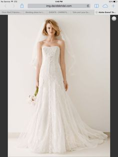 I can just see this dress moving perfectly at the bottom when I walk. It's also pretty unique-David's bridal
