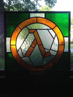 Valve  Half Life Logo in Real Stained Glass by MartianGlasswork, $625.00
