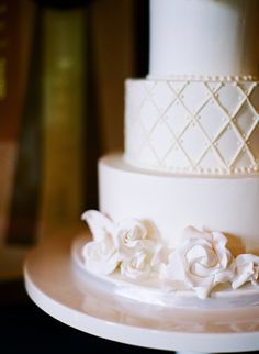 Three Tier Wedding Cake | photography by http://kristenlynne.com/
