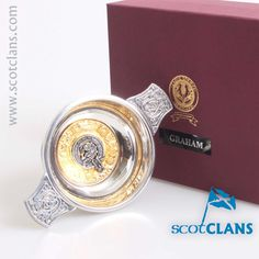 Graham Clan Crest Quaich . Free worldwide shipping available