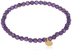 """Satya Jewelry """"Classics"""" Amethyst Mini Lotus Stretch Bracelet ** Check out the image by visiting the link."""