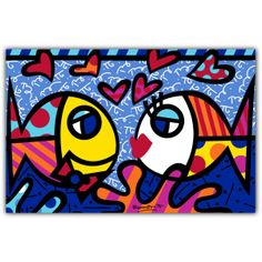 PAMESA BY BRITTO | DEEP LOVE | CERAMIC Pamesa by BRITTO is an exclusive line of ceramic tiles featuring the vibrant and colorful illustrations of world renowned artist Romero Britto. BRITTO Deep Love available in 34 CM by 50 CM tiles. #ParmesaByBritto #Britto #MOTW