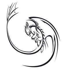 Night Fury Tattoos | Nightfury blason by ~Saki-BlackWing on deviantART