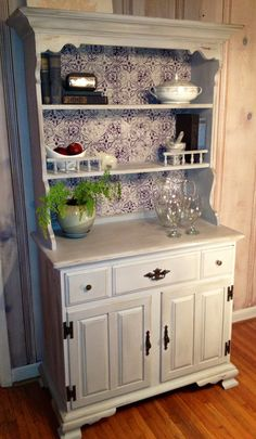Antique Painted Hutch by Bdanae on Etsy, $275.00