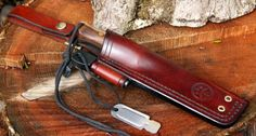 Beneath The Stars Bushcraft Knife sheathes with firesteel holder