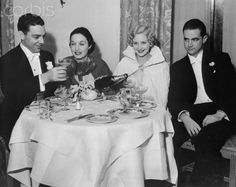 Robert Howard Cobb and Gail Patrick, with Marian Marsh and Howard Hughes at the Mayfair Club in Los Angeles, 1935.