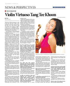 Violin Virtuoso Tang Tee Khoon (Pg 1/2) --- (Epoch Times, Singapore Edition: Issue 495 24 Sep 19 – Oct 2, 2014)