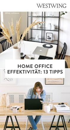 Von zuhause aus arbeiten hat viele Vorteile: Wir können unseren Tagesablauf selbst bestimmen, haben viel Freiraum für Kreativität und müssen keine langen Wege zum Arbeitsplatz auf uns nehmen. Und das Beste für alle Interior-Fans: Wir dürfen unser Office ganz nach unserem eigenen Geschmack einrichten! Wir sind ja bekanntermaßen am produktivsten, wenn wir uns wohl fühlen und uns konzentrieren können./Westwing Home Office Büro Zuhause arbeiten modern Arbeitsplatz Schreibtisch Idee Inspiration 2021 Office Desk, Modern, Design, Furniture, Home Decor, Office Home, Co Workers, Work Spaces, Tips And Tricks