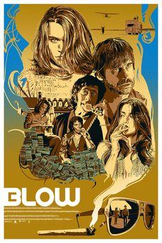 Blow - movie poster - Stephen Sampson aka The Dark Inker Blow Movie, Film Movie, Movie Synopsis, Johny Depp, Fanart, Cinema Posters, Alternative Movie Posters, Movie Poster Art, Illustrations And Posters