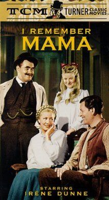 I Remember Mama (1948) starring Irene Dunn, Barbara Bel Geddes, and directed by George Stevens. | I watch this every year on Mother's Day. I love Irene Dunne.