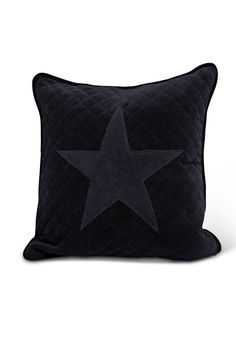 Florence Pillowcase in navy velvet with suede star patch - mix and match! Mix N Match, Home Collections, Spring 2014, Cosy, Florence, Pillow Cases, Velvet, Throw Pillows, Stars