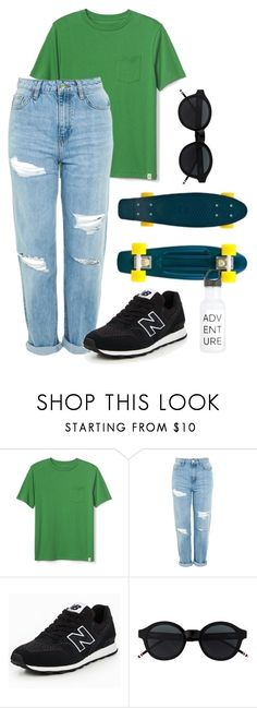 """""""smr"""" by janikovics on Polyvore featuring Topshop and New Balance"""
