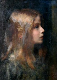 "William Robert Symonds, ""Portrait of a Young Girl in Profile"""