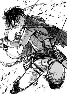 levi Attack on Titan - Shingeki no Kyojin I Love Anime, Anime Guys, Aot Gifs, Captain Levi, Attack On Titan Levi, Fan Art, Anime Art, Otaku, Sketches
