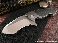 Item Condition: New Handle Material: Titanium / Carbon Fiber Blade Steel: M390 Blade Length: 3  1/4
