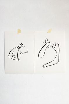 Andrea Kollar is an Austrian born artist, illustrator and art director. Black And White Art Drawing, Black And White Sketches, Black And White Posters, Black And White Abstract, Love Drawings Couple, Couple Art, Oil Pastel Art, Charcoal Art, Printable Art