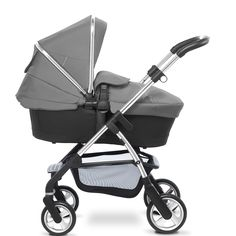 The Wayfarer pram system from Silver Cross - shown here in carrycot mode.