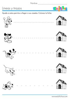 trazos y líneas rectas Writing Practice Worksheets, Tracing Worksheets, Preschool Worksheets, Preschool Activities, Tracing Sheets, Pattern Worksheet, Preschool Writing, English Activities, Pre Writing