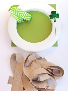 Homemade St. Patrick's Day Wreath