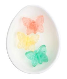"""These miniature gummies scream """"Spring!"""" Each colored butterfly features a different flavor: strawberry, lemon, apple, and raspberry. They're a great option for anyone who doesn't like chocolate."""
