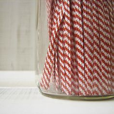 Twist Ties - Red and White Stripes from OliveManna on Etsy.