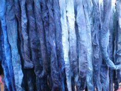 Wollberge in Blau