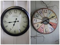 Love this clock (on the right). Would be perfect in our vintage hot air balloon nursery we have going on.
