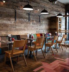 Tile and wood flooring.. - Restaurant & Bar Design Awards: