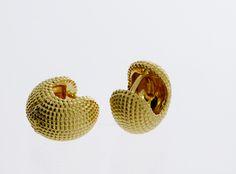 Creolen aus Gold Straw Bag, Dots, Stud Earring, Rhinestones, Necklaces, Silver, Schmuck, Stitches
