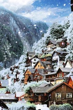 Hallstatt, Austria during winter! Looks like something out of a fairytale ✨