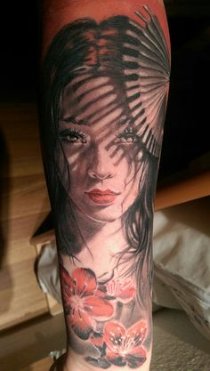 My Geisha tattoo by Moni Marino