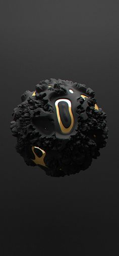 Black | 黒 | Kuro | Nero | Noir | Preto | Ebony | Sable | Onyx | Charcoal | Obsidian | Jet | Raven | Color | Texture | Pattern | All black but gold on Behance