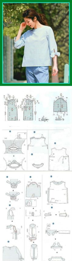 АТЕЛЬЕ дизайнерской одежды: шитье, выкройки#Выкройка блузки и технология пошива
