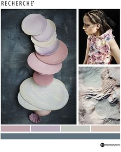 Color Trend F/W 2016/17-RECHERCHE-Fashion Vignette for Eclectic Trends. Pink becoming more mature