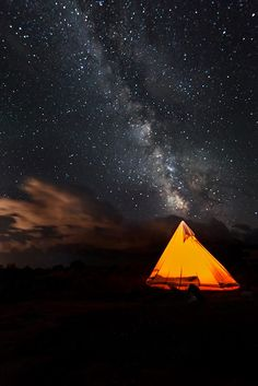 Enjoy the starry nights right outside your tent!  You might even be lucky enough to see the Milky Way during your stay!