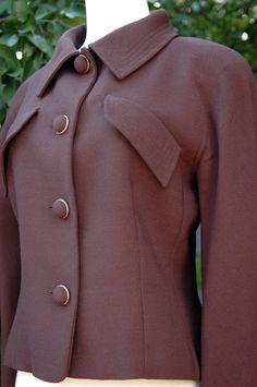 Vintage Tan /& Brown Wool Blazer Fitted Wool Blazer Warm Winter Blazer Textured Wool Jacket Vintage Holiday Gift