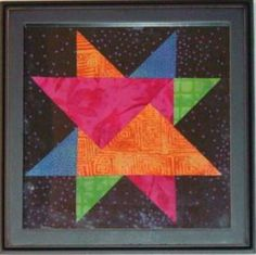 Green Bay Star, designed and made by Judy Martin. The pattern was first printed in her book, Knockout Blocks & Sampler Quilts, 2004. Easy cutting and sewing. The pattern was later included in the EQ program, Star Power.