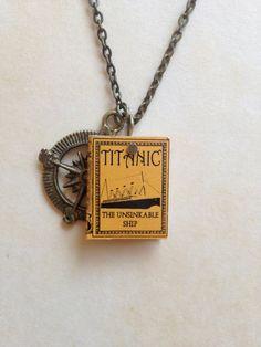 Mini Titanic Necklace by MiniatureLiterature on Etsy, $18.00