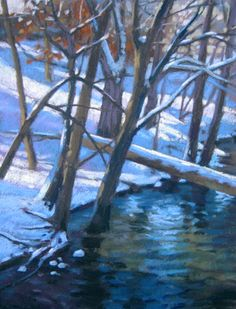 Winter Woods - pastel painting by Jill Stefani Wagner
