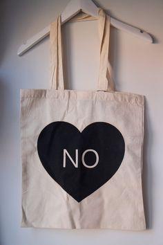 Printed tote bag - No heart