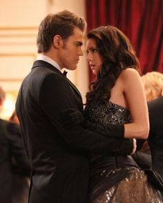 Stefan and Elena from The Vampire Diaries #CrimsonRomance