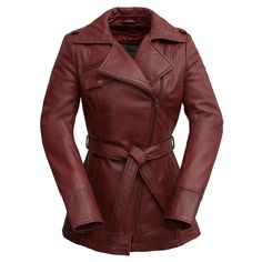Genuine leather and a trench coat design makes this women's Whet Blu jacket a uniquely stylish outerwear choice. Designer Leather Jackets, Leather Jackets For Sale, Jackets For Women, Leather Trench Coat, Leather Blazer, Lambskin Leather, Fall Fashion Outfits, Women's Fashion, Fashion Ideas