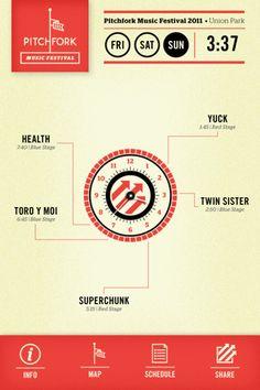 amazingly designed app for pitchfork fest