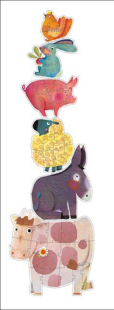 Djeco 6 dieren vriendjes puzzels 3j - € 18,95