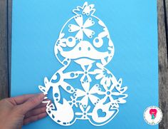 Duck Paper Cut Template, SVG / DXF Cutting File For Cricut / Silhouette & PDF Hand Cutting Printable. Digital Download by DigitalGems on Etsy